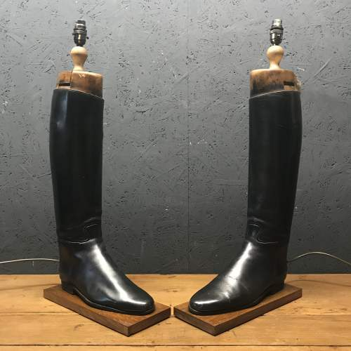 Pair of Vintage Peal and Co Riding Boots Repurposed into Lamps image-1