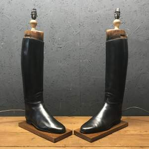 Pair of Vintage Peal and Co Riding Boots Repurposed into Lamps