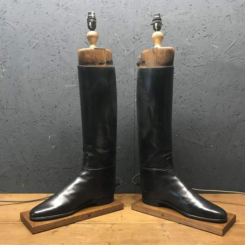 Pair of Vintage Peal and Co Riding Boots Repurposed into Lamps image-2