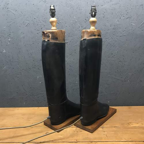 Pair of Vintage Peal and Co Riding Boots Repurposed into Lamps image-5
