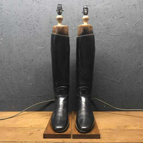 Pair of Vintage Peal and Co Riding Boots Repurposed into Lamps image-6