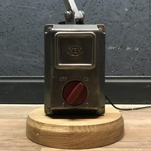 Unique Floor Standing Double Memlite Machinists Lamp - Restored image-4