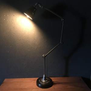 Vintage Invisaflex Industrial Machinist Lamp - Rare 4 Arm Model