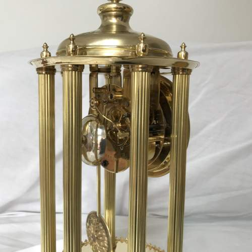 Large 8-Day Bandstand Clock Striking On A Bell Under Glass Dome image-4