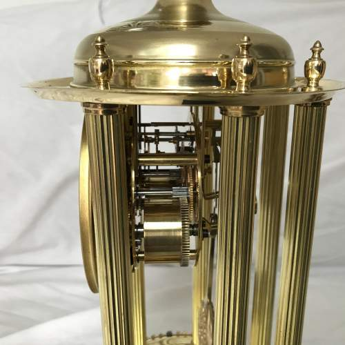 Large 8-Day Bandstand Clock Striking On A Bell Under Glass Dome image-6
