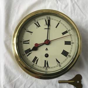 Military Brass 8 Day Bulkhead Clock By Elliott With Second Sweep