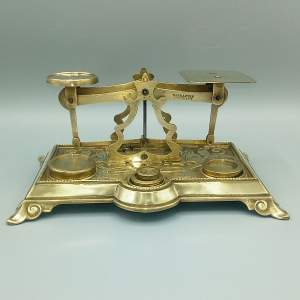Victorian Brass Postal Scales
