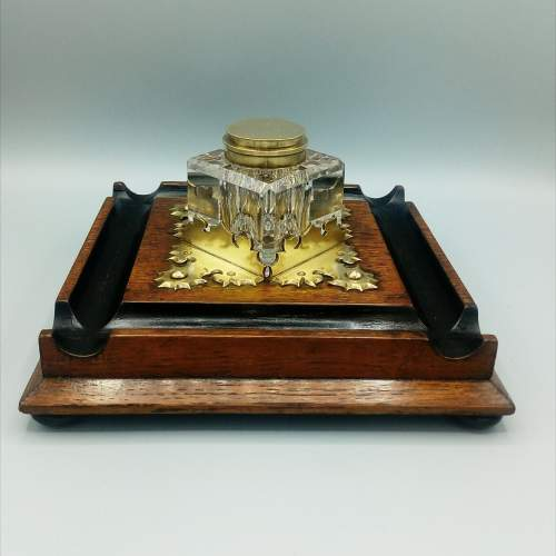 Edwardian Oak Desk Stand image-1