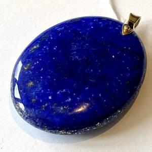 Large 14ct Gold Lapis Lazuli Pendant