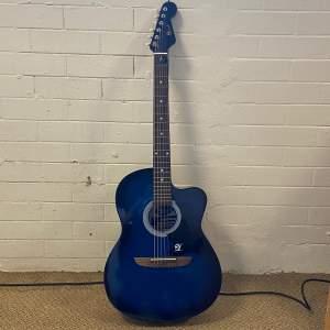 Lindo Blue Acoustic Guitar