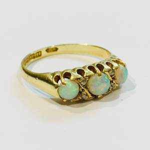 Early 20th Century 14ct Gold Opal and Diamond Ring