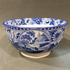 Early 19th Century Don Pottery Blue and White Bowl