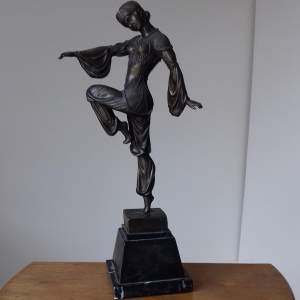Bronze Figure Of An Art Deco Dancer Signed D H Chiparus
