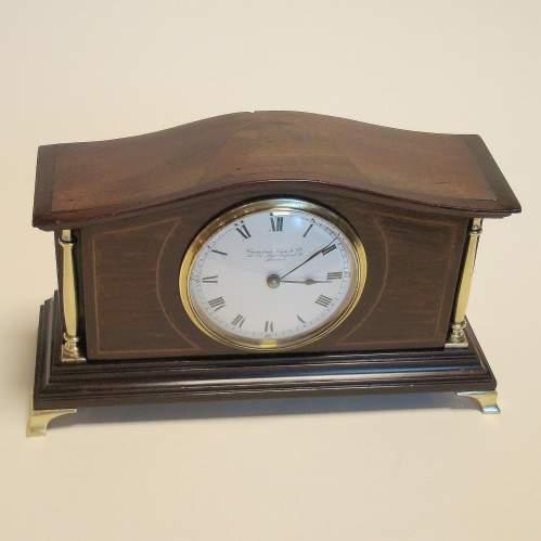 Edwardian Mahogany Cased Mantel Clock image-2