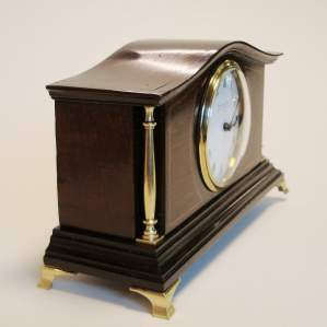 Edwardian Mahogany Cased Mantel Clock
