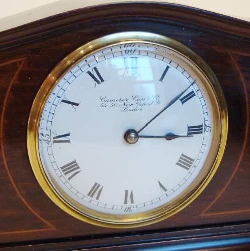 Edwardian Mahogany Cased Mantel Clock image-3