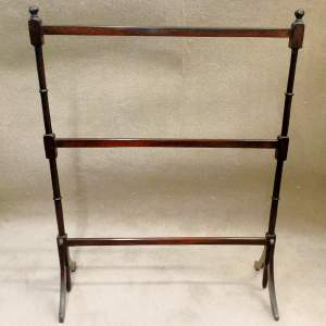 Edwardian Mahogany Towel Rail