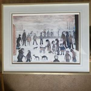 L S Lowry The Park - Blind Stamped Limited Edition Print 326/850