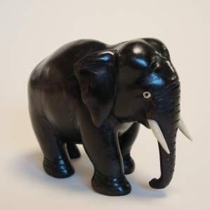 Carved Ebony Elephant