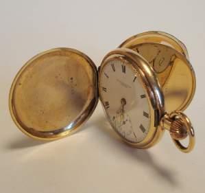 Rolled Gold Hunter Pocket Watch