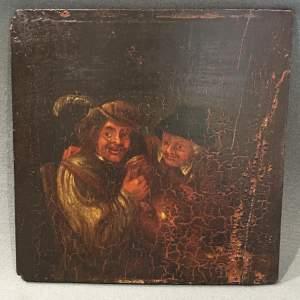 17th Century Dutch Oil Painting on Oak Panel