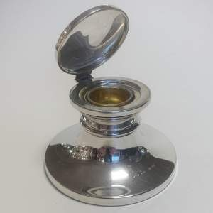 Silver Capstan Inkwell
