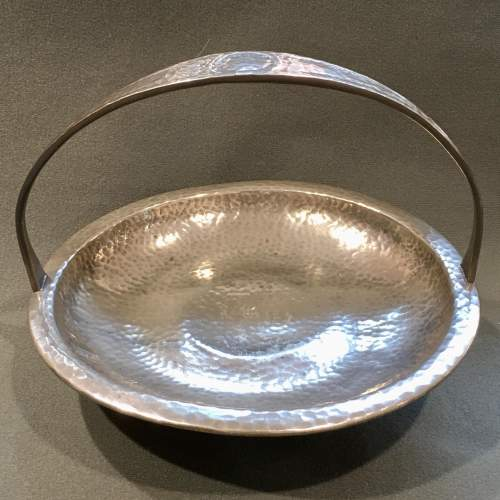 Arts and Crafts Liberty and Co Tudric Pewter Footed Cake Basket image-1