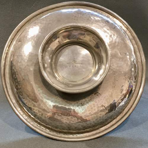 Arts and Crafts Liberty and Co Tudric Pewter Footed Cake Basket image-5