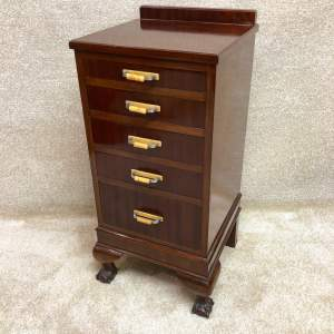 Art Deco Tall Mahogany Chest of Drawers