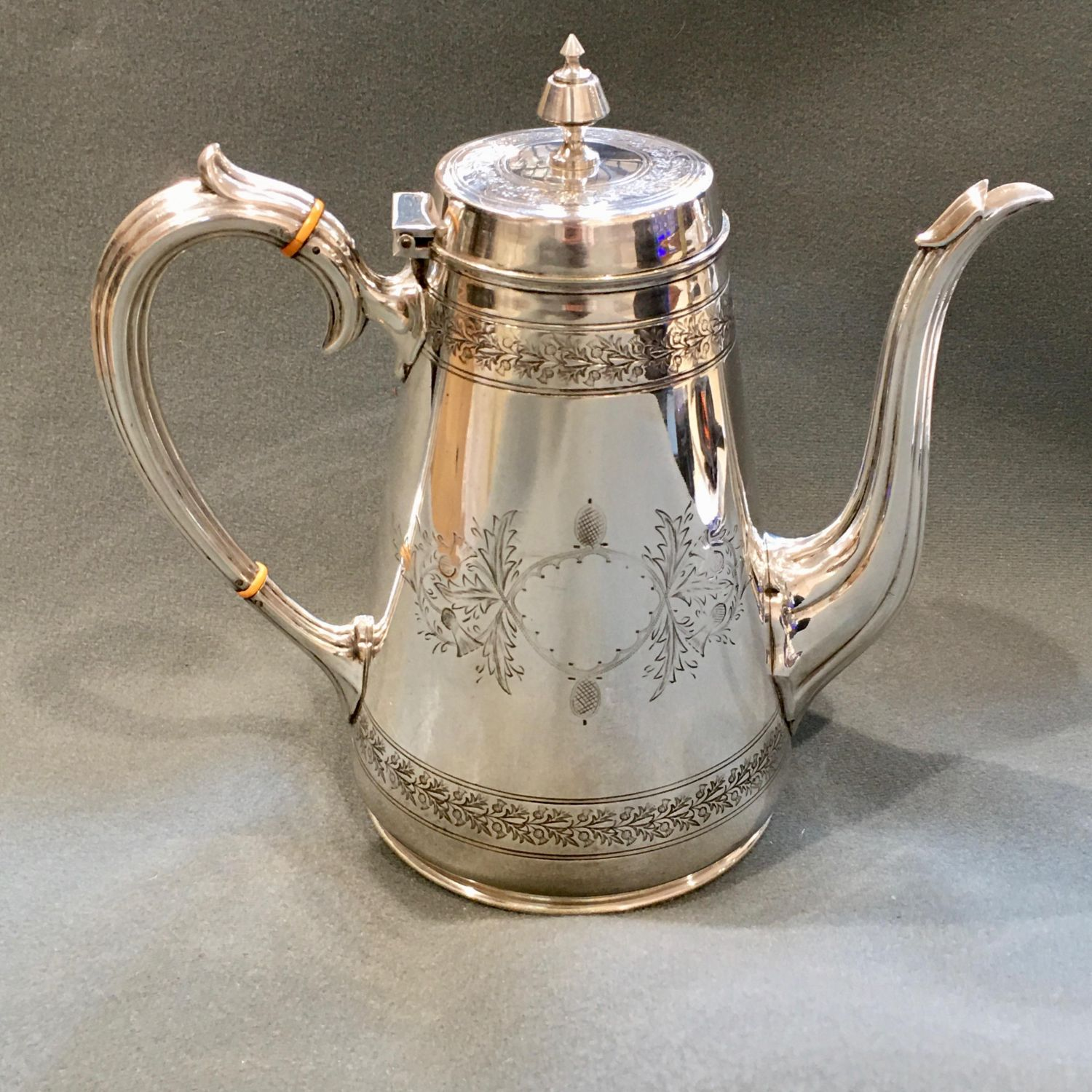 Victorian Anglo Indian Silver Plated Coffee Pot Antique Silver Plate Hemswell Antique Centres