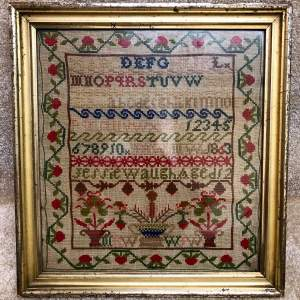 19th Century Sampler Dated 1863