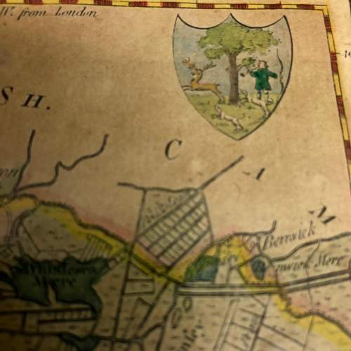 Antique Framed And Glazed Map Of Huntingdon image-3