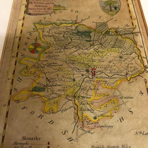 Antique Framed And Glazed Map Of Huntingdon image-4