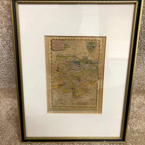Antique Framed And Glazed Map Of Huntingdon image-6