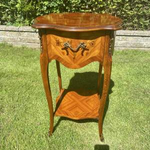 French Inlaid Two Tier Table