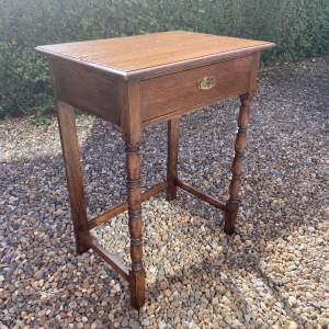 Small Oak Side or Writing Table