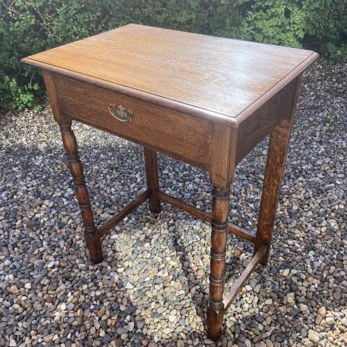 Small Oak Side or Writing Table image-3
