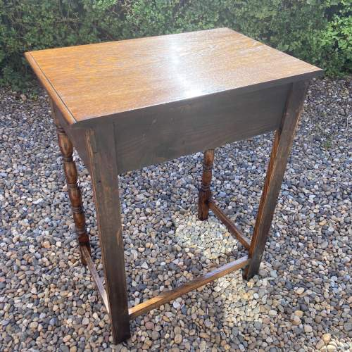 Small Oak Side or Writing Table image-6