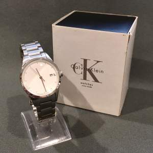 Vintage Mens Calvin Klein Stainless Steel Wrist Watch