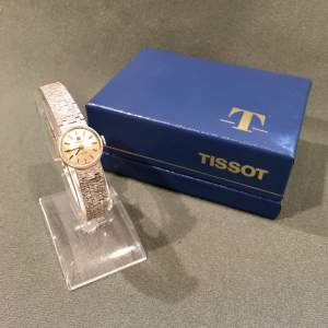 Vintage Ladies Tissot Stylist 9ct White Gold Wrist Watch