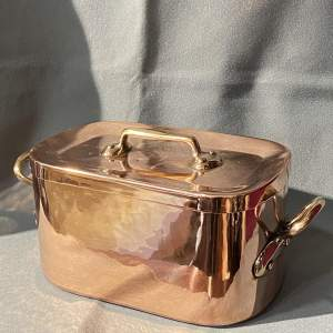 Late 19th Century Copper Rectangular Pan with Lid