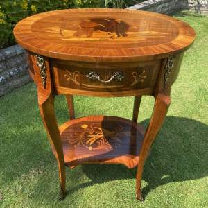 Decorative French Style Two Tier table