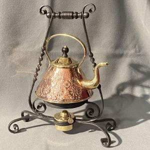 Arts and Crafts Copper Spirit Kettle and Stand