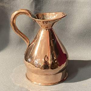 Original 19th Century Copper Quart Haystack Measure