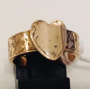 Antique 9ct Gold Love Token Ring