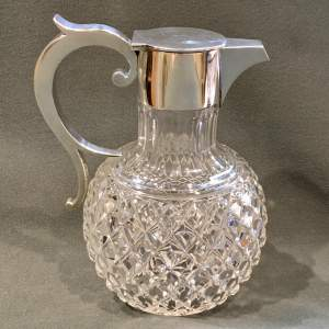 Late 19th Century Cut Glass and Silver Claret Jug