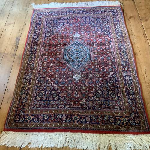 Superb Old Hand Knotted Persian Rug Bidjar With Abrash image-1