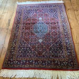 Superb Old Hand Knotted Persian Rug Bidjar With Abrash