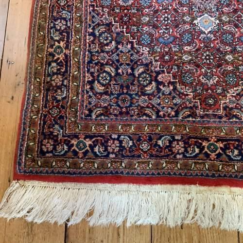 Superb Old Hand Knotted Persian Rug Bidjar With Abrash image-2