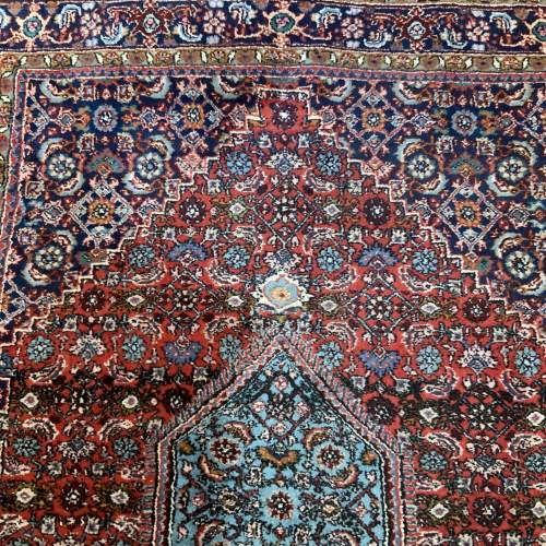 Superb Old Hand Knotted Persian Rug Bidjar With Abrash image-4